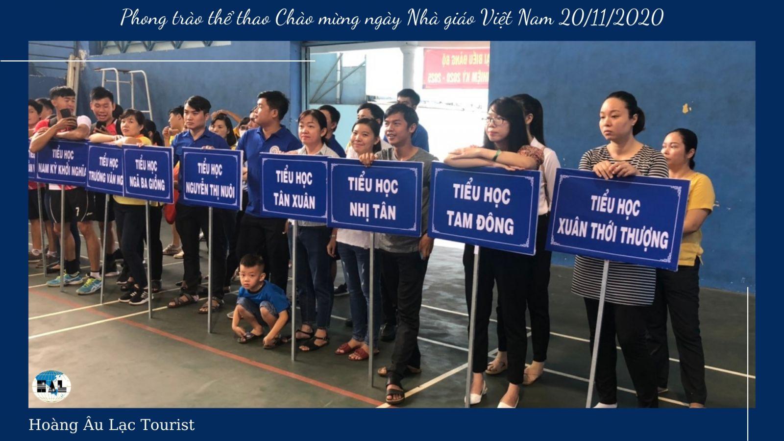 Hoàng Âu lạc và Phong trào thể thao Chào mừng ngày Nhà giáo Việt Nam 20/11/2020